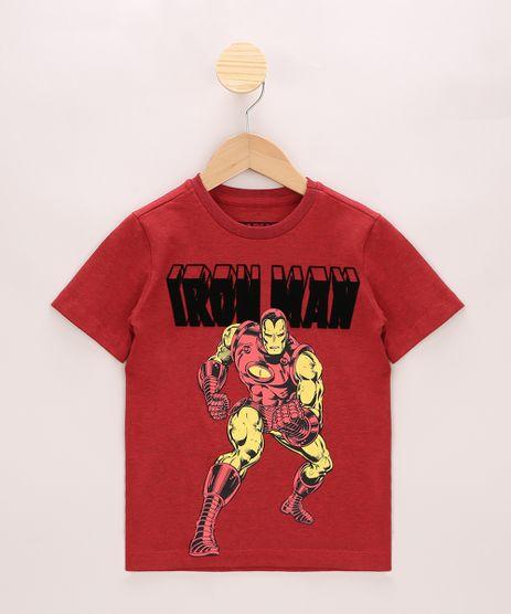 Camiseta-Infantil-Homem-de-Ferro-Flocado-Manga-Curta-Vermelha-9968782-Vermelho_1