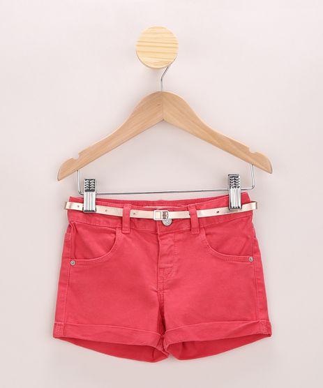Short-de-Sarja-Infantil-Com-Cinto-Vermelho-9965670-Vermelho_1
