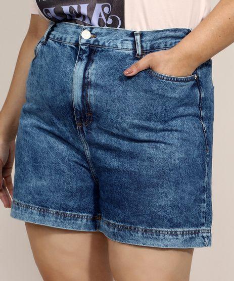 Bermuda-Jeans-Feminina-Plus-Size-Mindset-Cintura-Super-Alta-Marmorizada-Azul-Medio-9974920-Azul_Medio_1