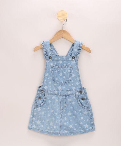 Jardineira-Short-Saia-Jeans-Infantil-Estampada-de-Estrelas-Azul-Claro-9965547-Azul_Claro_1