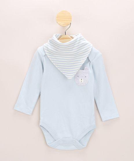 Body-Infantil-com-Bolso-de-Ursinho-Manga-Longa---Babador-Azul-Claro-9834056-Azul_Claro_1