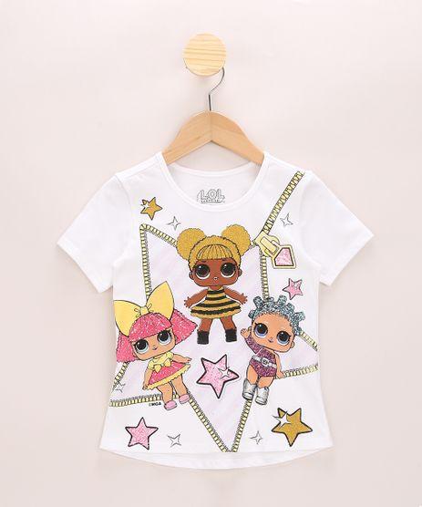 Blusa-Infantil-LOL-Surprise-com-Glitter-Manga-Curta-Off-White-9966008-Off_White_1