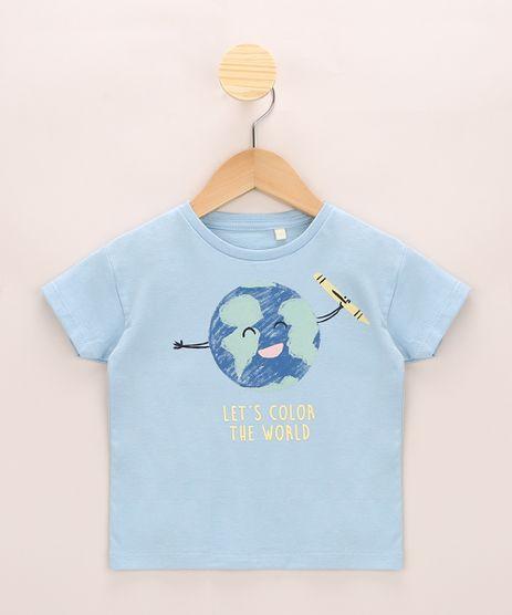 Blusa-Infantil-Ampla--Let-s-Color-The-World--Manga-Curta-Azul-Claro-9967059-Azul_Claro_1