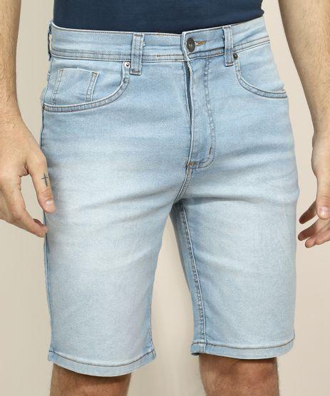 Bermuda-Jeans-Masculina-Slim-com-Bolsos-Azul-Claro-9753082-Azul_Claro_1