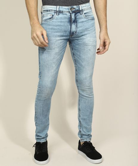 Calca-Jeans-Masculina-Skinny-com-Bolsos-Azul-Claro-9962768-Azul_Claro_1