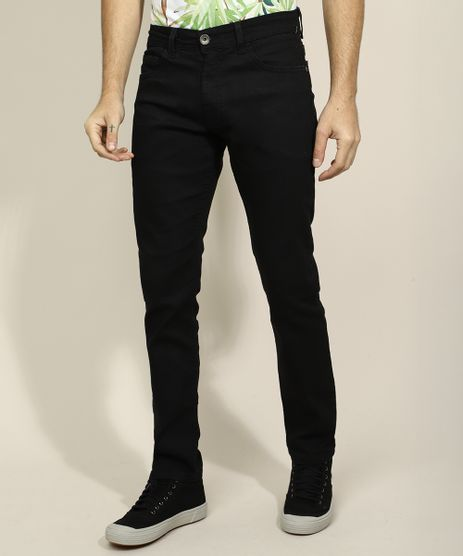 Calca-Jeans-Masculina-Reta-com-Bolsos-Preta-9962222-Preto_1