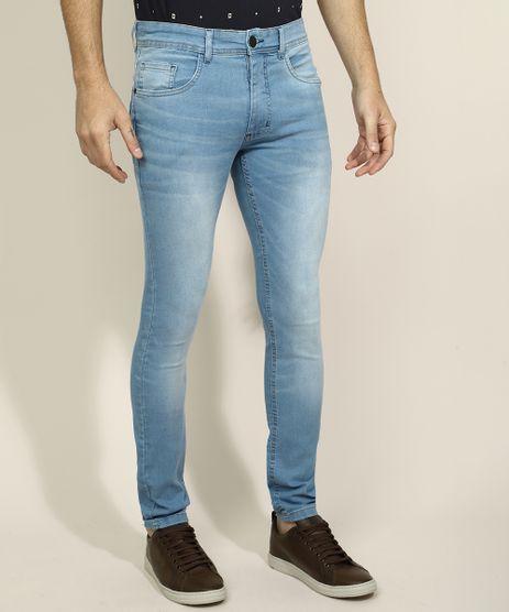 Calca-Jeans-Masculina-Skinny-com-Bolsos-Azul-Claro-9967025-Azul_Claro_1