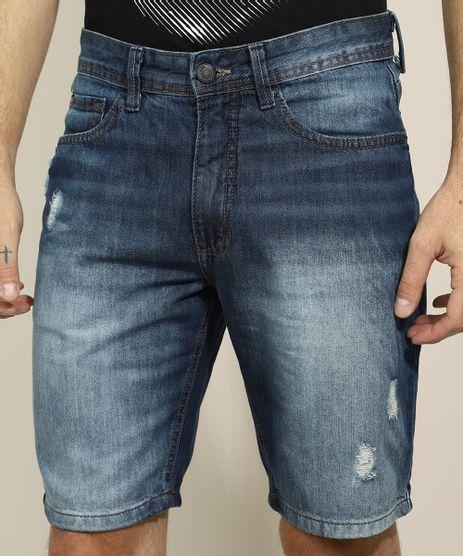 Bermuda-Jeans-Masculina-Slim-com-Bolsos-Azul-Medio-9966732-Azul_Medio_1
