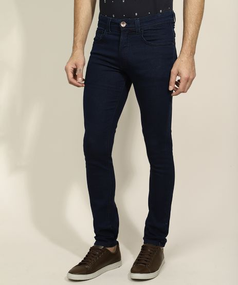 Calca-Jeans-Masculina-Skinny-com-Bolsos-Azul-Escuro-9964034-Azul_Escuro_1
