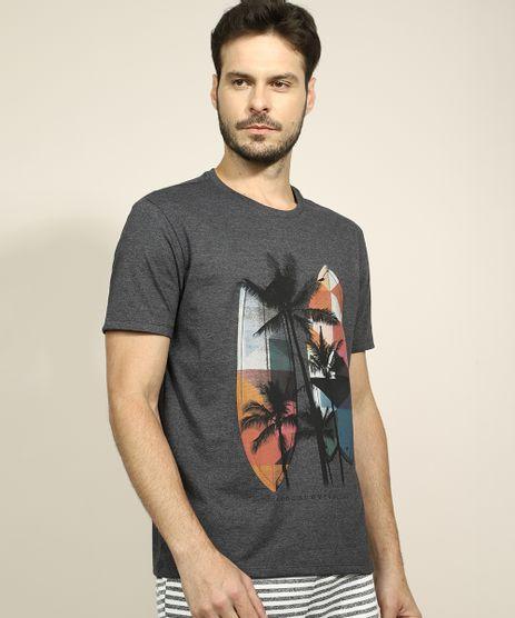 Camiseta-Masculina-Coqueiros-Manga-Curta-Gola-Careca-Cinza-Mescla-Escuro-9966535-Cinza_Mescla_Escuro_1