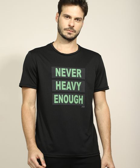 Camiseta-Masculina-Esportiva-Ace--Never-Heavy-Enough--Manga-Curta-Gola-Careca-Preta-9968645-Preto_1