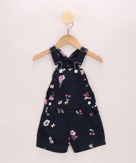 Jardineira-Infantil-Estampada-Floral-com-Babados-Azul-Marinho-9963381-Azul_Marinho_1