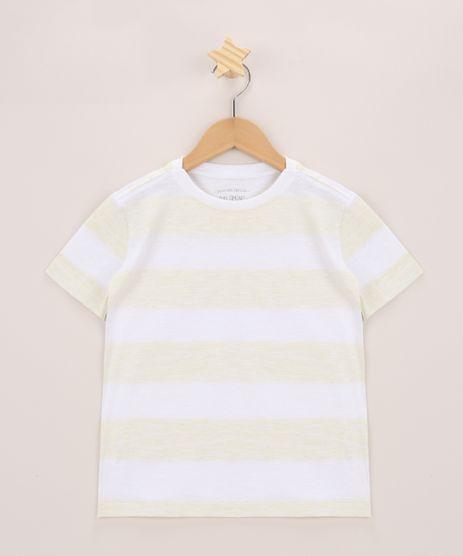 Camiseta-Infantil-Listrado-Manga-Curta-Gola-Careca-Amarela-9970171-Amarelo_1