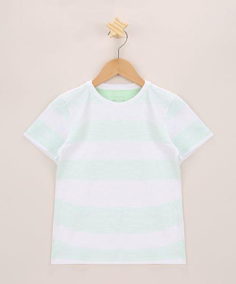 Camiseta-Infantil-Listrado-Manga-Curta-Gola-Careca-Verde-Claro-9970171-Verde_Claro_1