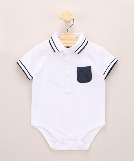 Body-Polo-Infantil-De-Piquet-com-Bolso-Manga-Curta-Off-White-9952405-Off_White_1