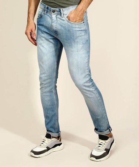 Calca-Jeans-Masculina-Slim-com-Bolsos-Azul-Claro-9967822-Azul_Claro_1