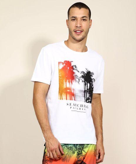 Camiseta-Masculina-Coqueiros-Manga-Curta-Gola-Careca-Branca-9960226-Branco_1