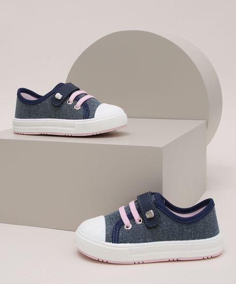 Tenis-Infantil-Pimpolho-Jeans-com-Elastico-e-Velcro-Azul-Escuro-9973822-Azul_Escuro_1
