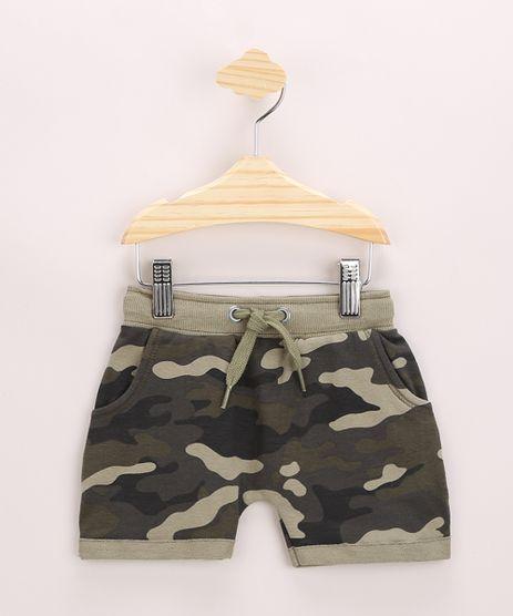 Short-de-Moletom-Infantil-Estampado-Camuflado-com-Bolsos-Verde-Militar-9957237-Verde_Militar_1