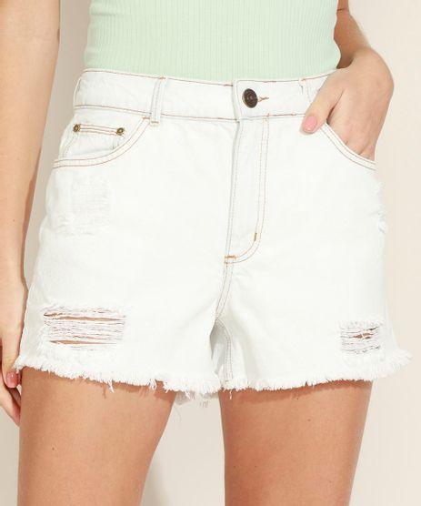 Short-Jeans-Feminino-Boyfriend-Cintura-Media-Destroyed-Azul-Claro-9971883-Azul_Claro_1