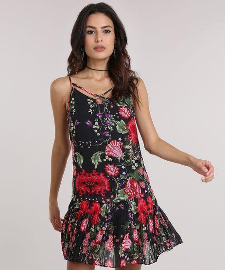 Vestido-com-Plissado-Estampado-Floral-Preto-8723398-Preto_1