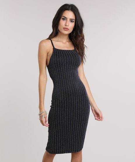 Vestido-Listrado-com-Lurex-Preto-8724962-Preto_1
