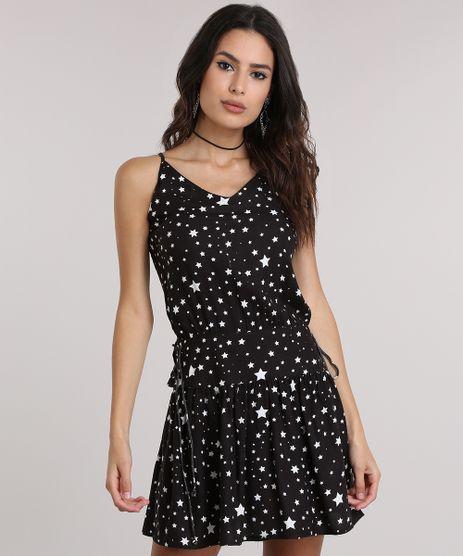 Vestido-Estampado-de-Estrelas-Preto-8722843-Preto_1