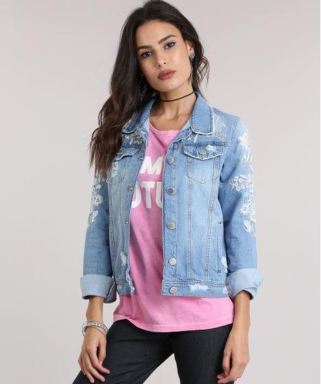 908642851c Jaqueta-Jeans-com-Bordado-Floral-Azul-Claro-8789440- ...
