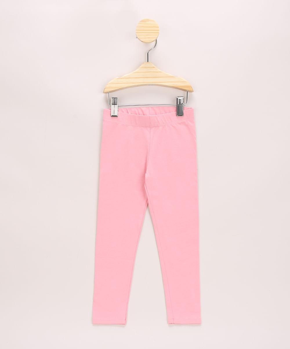 Calça Legging Infantil Básica Rosa