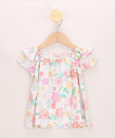 Blusa-Infantil-Ampla-Estampado-Floral-com-Babados-Manga-Curta-Off-White-9964372-Off_White_1
