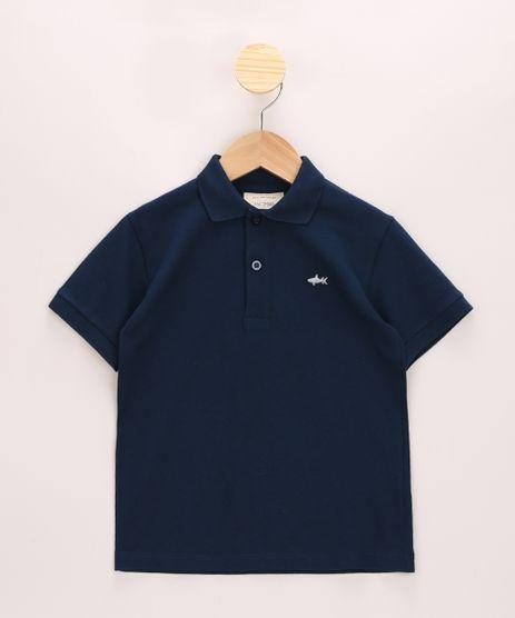 Polo-Infantil-de-Piquet-Basica-com-Bordado-Manga-Curta-com-Botoes-Azul-Marinho-8435761-Azul_Marinho_1
