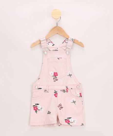 Jardineira-de-Sarja-Infantil-Estampada-Floral--Rosa-Claro-9957884-Rosa_Claro_1