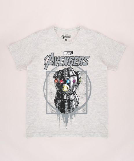 Camiseta-Infantil-Manopla-do-Infinito-Os-Vingadores-Manga-Curta-Gola-Careca-Cinza-Mescla-Claro-9710636-Cinza_Mescla_Claro_1