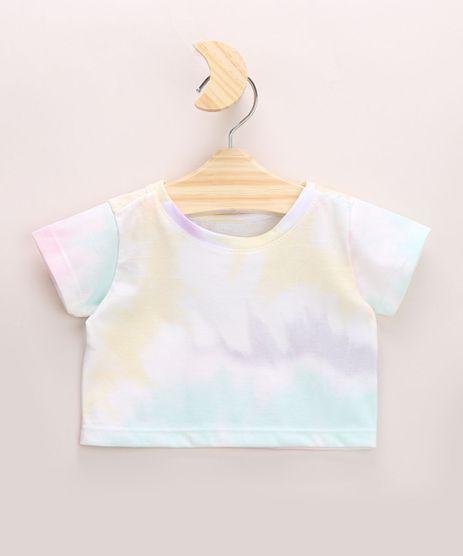 Blusa-Infantil-Cropped-Estampado-Tie-Dye-Manga-Curta-Decote-Redondo-Multicor-9967861-Multicor_1