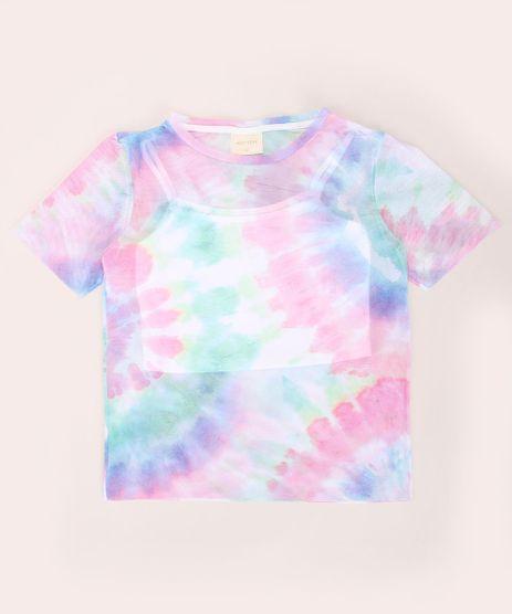 Blusa-Juvenil-de-Tule-Estampado-Tie-Dye-Manga-Curta-Decote-Redondo-Multicor-9968413-Multicor_1