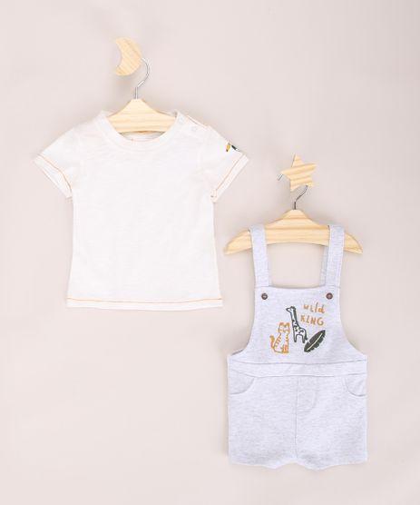Conjunto-Infantil-de-Camiseta-Manga-Curta-Off-White---Jardineira-de-Moletom-com-Bordado-Cinza-Mescla-Claro-9950583-Cinza_Mescla_Claro_1