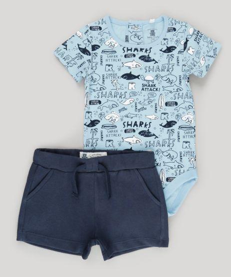 Conjunto-de-Body-Estampado-de-Tubaroes-Azul-Claro---Bermuda-em-Moletom-em-Algodao---Sustentavel-Azul-Marinho-8705459-Azul_Marinho_1