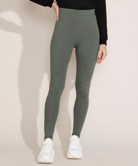Calca-Legging-Feminina-Basica-Verde-Militar-8556340-Verde_Militar_1
