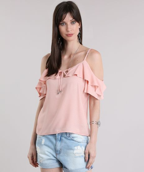 Blusa-Open-Shoulder-Texturizada-Rose-8829864-Rose_1