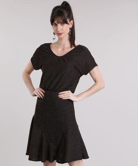 Vestido-Listrado-com-Lurex-Preto-8918147-Preto_1