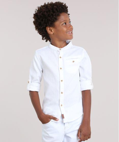 9b1e2a4ed8 Camisa-Texturizada-Off-White-8668792-Off White 1 ...