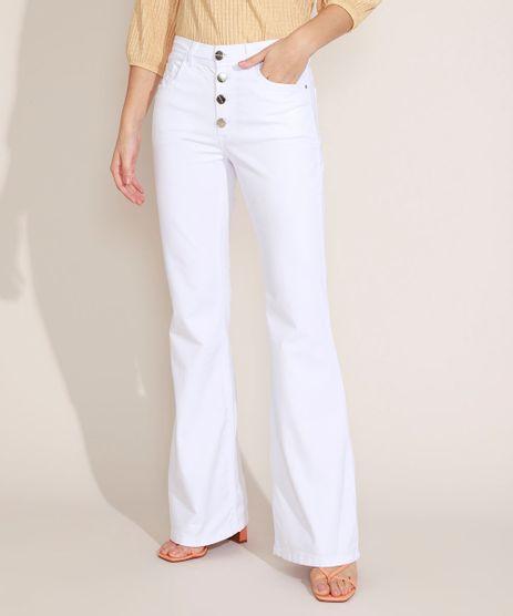 Calca-de-Sarja-Flare-Cintura-Alta-com-Botoes-Off-White-9967485-Off_White_1