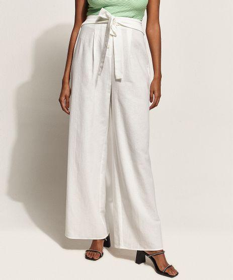 Calca-Feminina-Pantalona-Cintura-Super-Alta-Alfaiatada-com-Faixa-para-Amarrar-Off-White-9957408-Off_White_1