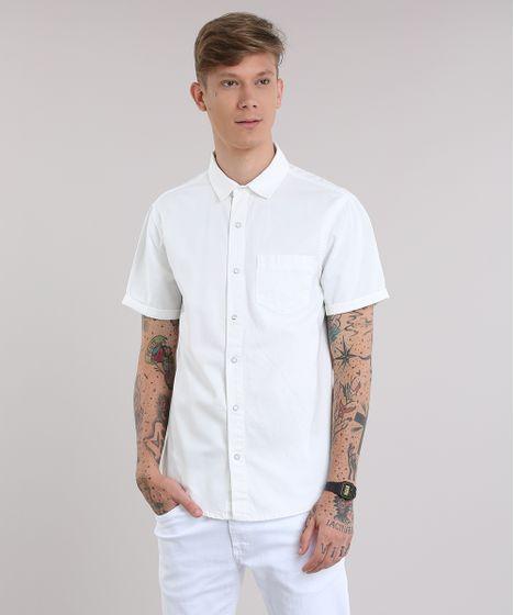6907f5d96e Camisa-Jeans-Branca-8820974-Branco 1 ...