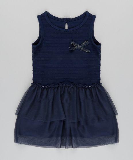 Vestido-Texturizado-com-Tule-Azul-Marinho-8814822-Azul_Marinho_1