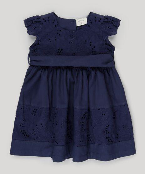 Vestido-com-Laise-e-Faixa-Azul-Marinho-8864966-Azul_Marinho_1