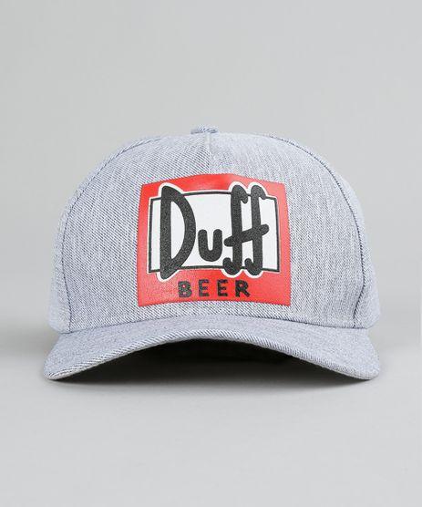 Bone--Duff-Beer--Os-Simpsons-Cinza-Claro- d3a0ff07513