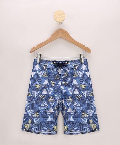 Bermuda-Infantil-Surf-Estampada-de-Folhagem-Azul-9962798-Azul_1