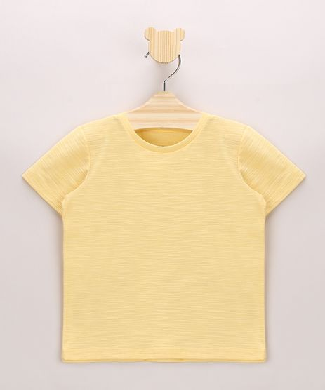 Camiseta-Infantil-em-Flame-Basica-Manga-Curta-Amarela-9967102-Amarelo_1