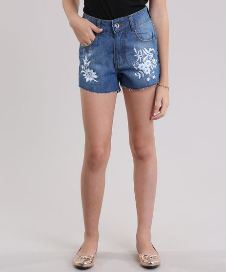 Short-Jeans-com-Bordado-Floral-Azul-Medio-8826573-Azul_Medio_1